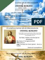 Invitación a Misa de Fallecimiento