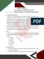 Buku Panduan Brawijaya Essay Competition 2019