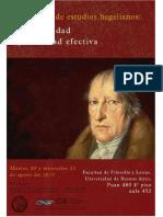 Programa de Jornada de Estudios Hegelianos