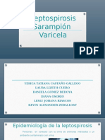 Leptospirosis Sarampión  Varicela.pptx