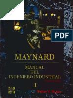 MAYNARD. Manual Del Ingeniero Industrial I - William K. Hodson