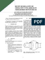 329450835 Informe Relacion y Polaridad Del Transformador