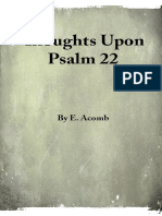 Thoughts Upon Psalm 22 - E. Acomb - 22172