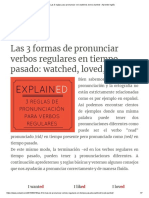 Las 3 Reglas Para Pronunciar -Ed_ Watched, Loved, Wanted - Aprende Inglés
