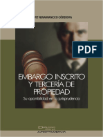 5. Embargo Inscrito y Tercería de Propiedad. Su Oponibilidad en La Jurisprudencia