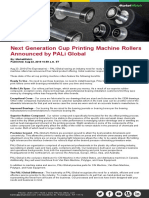 Next Generation Cup Printing Machine Rollers Announced by PALi Global