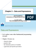 Data and Expressions In Java