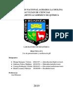 uso del potenciómetro y determinación de ph