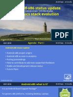 XDC2018 Android-x86 Tech Talk