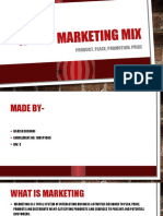 4p's of Marketing Mix