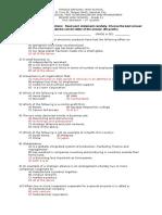 Organization and Management Quarterly Exam