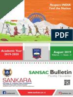 SANSAC Bulletin - Monthly Newsletter- Aug 2019