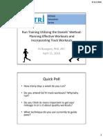 Run Training Using Daniels Method