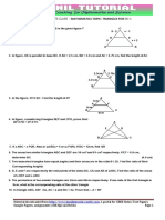 10th Maths Ch Similar Triangle Test Paper