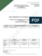 2019 - Procedimiento Seguro de Trabajo Cambio Intercambiador de Calor Motor Anillo Mlp