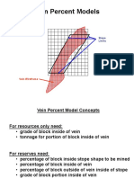Using Vein Percent Models
