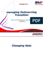 Managing Oursourcing Transition