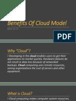 Benefits of Cloud Model