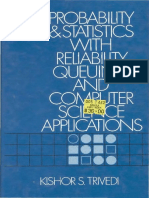 Probability and Statistic With Reliability Queuing and Computer Science
