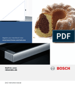 Bosch HBA63B150B Pyrolytic Built in Oven User Manual