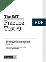 PDF Sat Practice Test 9