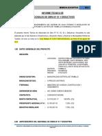 Informe de Adiconal y Deductivo Tambillo-Ayacucho