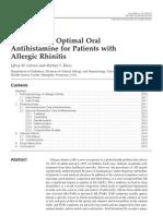 Antihistaminico Optimo en Rinitis