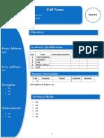 Resume Format (2 Files Merged)