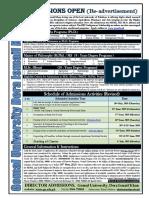 Re Advertisement M.phil Ph.D Admissions 2019