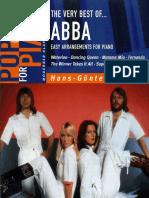 Abba Easy Book Piano 12 Titres