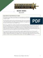 Age of Sigmar Base Sizes