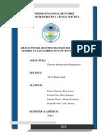 Aplicación Del Segundo Tratado Del Convenio de Ginebra en Las Guerras No Convencionales
