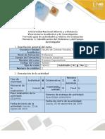 Guía de Actividades y Rúbrica de Evaluación - Momento 1 - Identificación Del Problema y Del Equipo Investigador