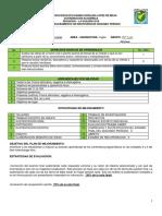 Plan de Mejoramiento 10° segundo periodo 2019.
