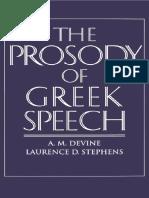 The Prosody of Greek Speech
