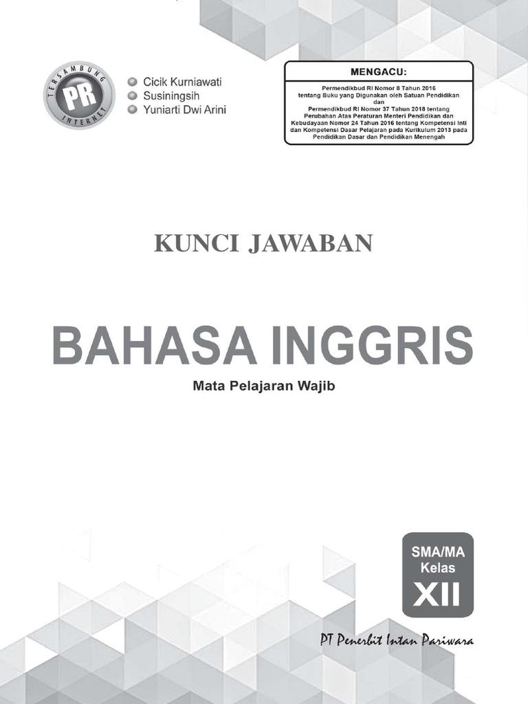 Kunci Jawaban Pr Bahasa Inggris 12 Edisi 2019 Pdf
