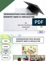 MENINGKATKAN HASIL BELAJAR KOGNITIF ABAD 21 MELALUI PBL.pptx