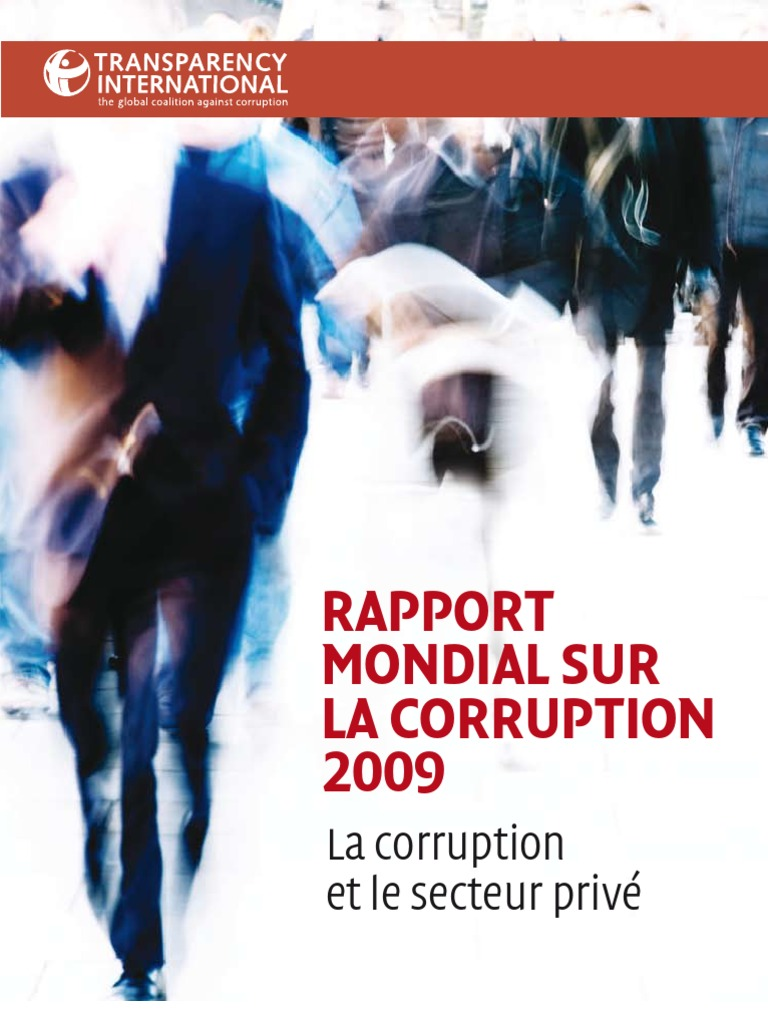 6ef42fa2524 Rapport Mondial Sur La Corruption 2009