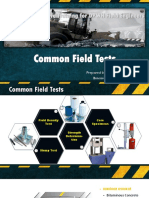Common Field Test