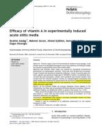 Vitamin a Use in Otitis Media