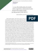 Una vida y una obra dedicadas al estudio del sindicalismo argentino y latinoamericano Entrevista a Julio Godio (In Memorian 1939-2011)