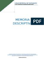Memoria Descriptiva de carretera tipo camino vecinal