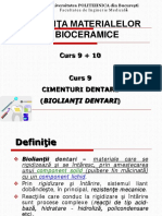 Curs 9+10 Cimenturi dentare + Mat bioinerte