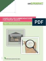HANDLING RECOMMENDATIONS FOR PAPER SACKS