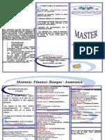 Master Monnaie Finance Banque Assurance àl'université Hassan 1er de Settat - (Maroc)