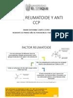Factor Reumatoide Laboratorio Clinico.