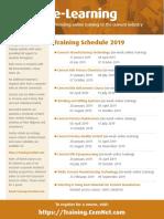 CemNet Training Schedule 2019