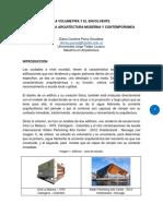 Ensayo La Volumetria y El Envolvente, Una Mirada a La Arquitectura Moderna y Contemporanea- Diana Parra Gonzalez