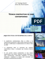 TÉCNICAS CONSTRUCTIVAS DE CHINA CONTEMPORÁNEA