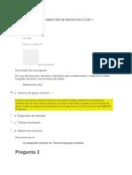 Evaluaciones Clase v - Direccion de Proyectos i
